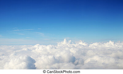 -, atmosfeer, wolken, achtergrond, hemel