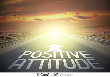 -, atteggiamento, strada, positivo, concetto