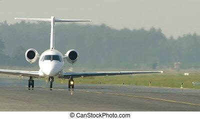 -, avion, commercial, course, hd