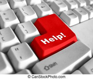 -, ayuda, especial, teclado