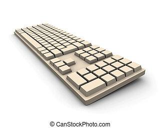 -, béžový, klaviatura