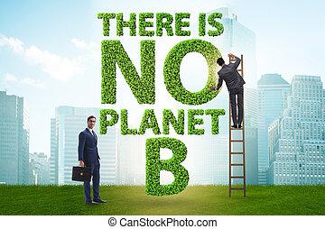 -, b, planète, là, non, écologique, concept