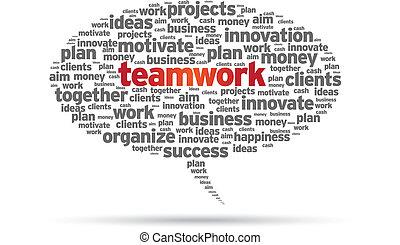 -, bańka mowy, teamwork