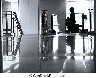 -ban, a, repülőtér
