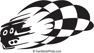 -, bandiera, checkered, da corsa, simbolo
