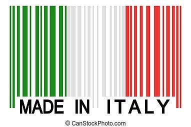 -, barcode, イタリア, 作られた