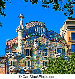 -, battlo, casa, スペイン, バルセロナ