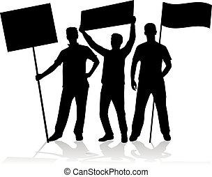-, bekundung, protestieren, personengruppe