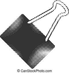 -, binder, halftone, pictogram, klem