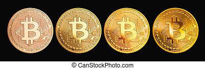 -, bitcoin, crypto, monnaie, btc, nouveau, morceau, monnaie