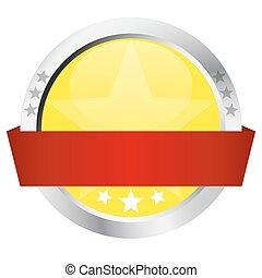 -, bottone, bandiera, sagoma