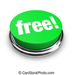 -, bouton, vert, gratuite