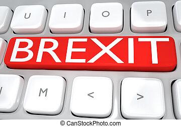 -, brexit, concept, politique