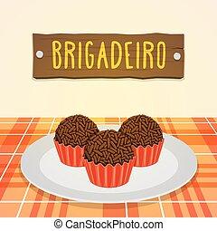 -, brigadeiro, versuikeren, braziliaans