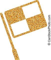-, brillare, oro, icona, guardalinee, bandiera