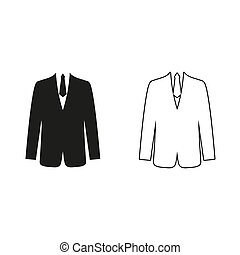 -, brink kostuum, vector, pictogram