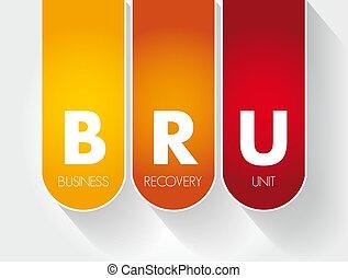 -, bru, business, acronyme, unité, récupération