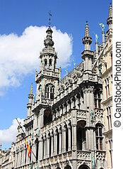 -, bruselas, lugar, magnífico