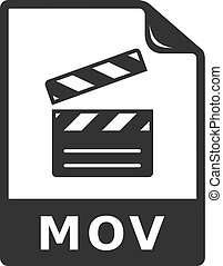 -, bw, video, pictogram, bestand