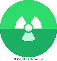 -, círculo, radioactivo, símbolo, icono