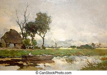 -c-1870, automne, landcape, weissenbruch, hendrik, -jan
