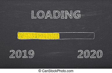 -, carga, mensaje, 2019, 2020, pizarra