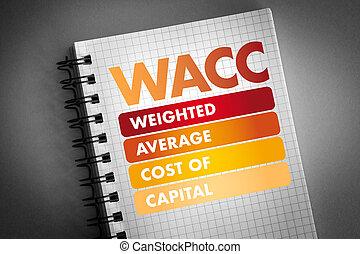 -, cargado, siglas, promedio, wacc, capital, coste