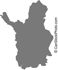 -, carte, laponie, (finland)