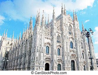 -, catedral, milan, duomo