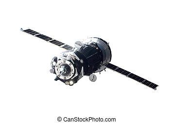 -, ceci, image, fourni, éléments, isolé, satellite, nasa