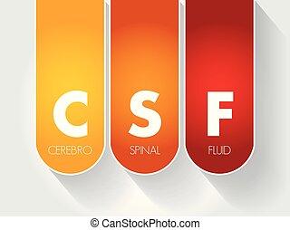-, cerebrospinal, csf, acrônimo, fluido