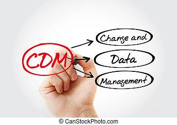 -, changement, acronyme, cdm, gestion données