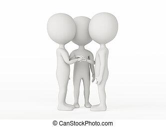 -, charakter, společenství, 3, průvodce, pojem, humanoid
