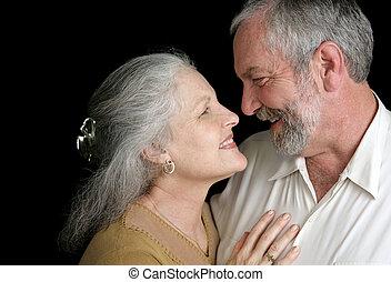 -, chimie, bon, couples mûrs