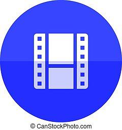 -, cirkel, video, bestand, pictogram