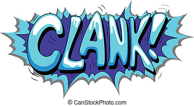 - , clank, έκφραση , κόμικς