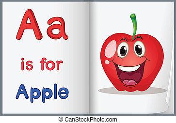Libros, manzana para el maestro.