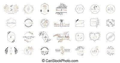 Una Gran Colección De Logotipos De Monogramas De Boda