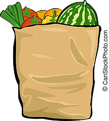 grocery bag illustrations and clipart 4 471 grocery bag royalty rh canstockphoto com Plastic Grocery Bags Clip Art Grocery Bag Clip Art Black and White