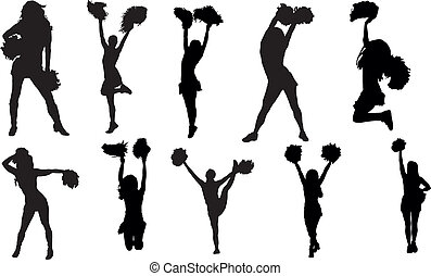 cheerleader clipart and stock illustrations 2 297 cheerleader rh canstockphoto com cheerleader clipart black and white cheerleader clipart images