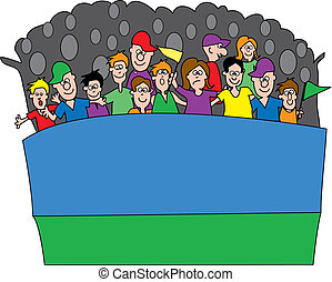 crowd cheering clipart and stock illustrations 2 501 crowd cheering rh canstockphoto com crown clipart crown clip art black and white