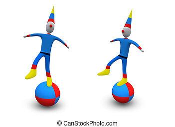 -, clown, #5, fetes