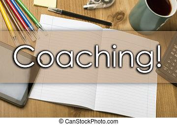 -, coaching!, business, texte, concept