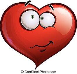-, coeur, emoticons, heureux, errant, faces