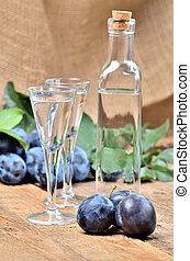 -, cognac, esprit, europe, typique, prune, slivovice,...