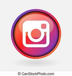 -, collection, instagram., populaire, logo, imprimé, mars, ...