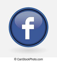 -, collection, populaire, logo, imprimé, facebook., mars, ...