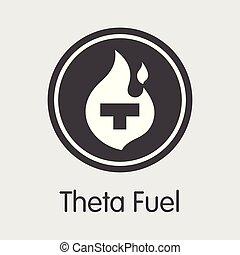 -, comercio, tfuel, logotipo, theta, moneda, emblem., o, ...