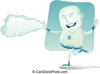 -, comique, superhero, iceman
