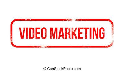 -, commercialisation, timbre, vidéo, grunge, rouges, caoutchouc